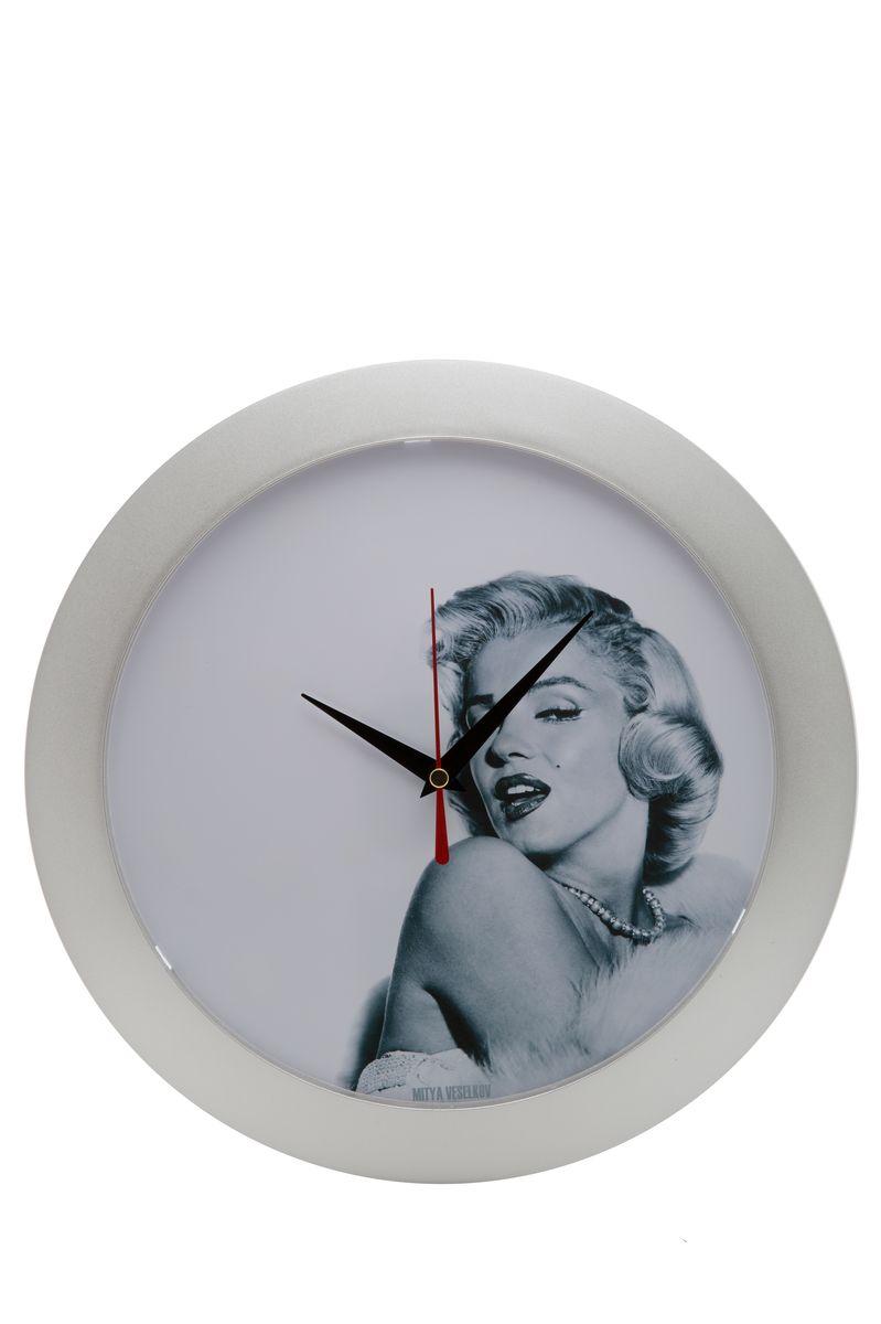 Часы настенные Mitya Veselkov Монро на белом, цвет: белый. MVC.NAST-050MVC.NAST-050