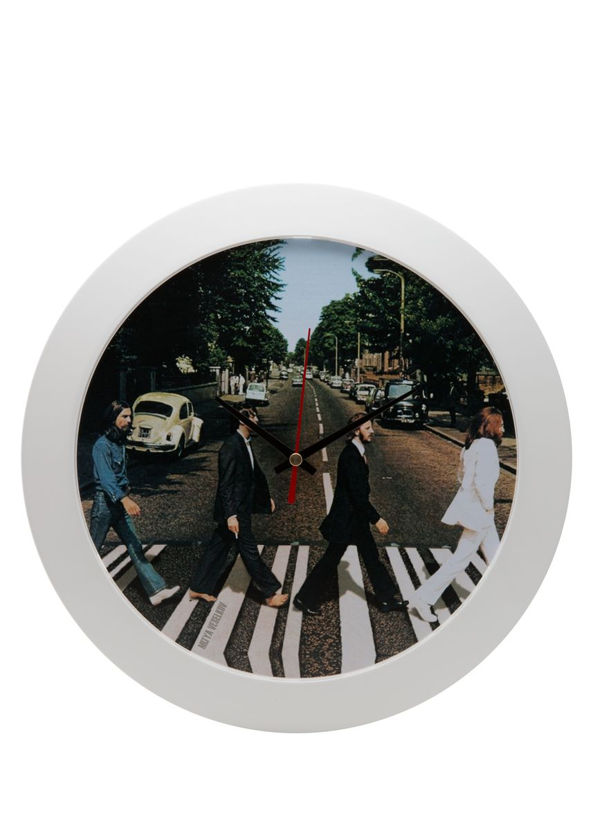 Часы настенные Mitya Veselkov Abbey Road, цвет: белый. MVC.NAST-053