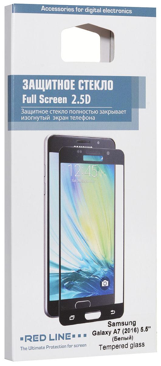 Red Line защитное стекло для Samsung Galaxy A7 (2016), WhiteУТ000008600Защитное стекло Red Line для Samsung Galaxy A7 (2016) предназначено для защиты поверхности экрана от царапин, потертостей, отпечатков пальцев и прочих следов механического воздействия. Оно имеет окаймляющую загнутую мембрану, а также олеофобное покрытие. Изделие изготовлено из закаленного стекла высшей категории, с высокой чувствительностью и сцеплением с экраном.