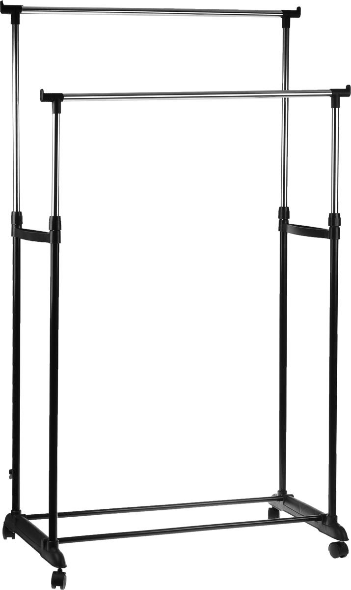 Вешалка напольная HomeMaster, телескопическая, 79 х 42 см, высота 93-160 см вешалка для одежды tatkraft karta напольная цвет белый черный высота 173 см