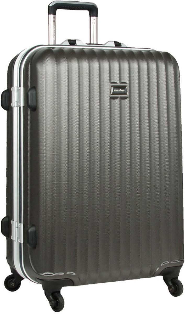 Чемодан пластиковый Polar, цвет: темно-серый, 115 л, 50 х 72 х 32 см. р1145(29)р1145(29)Чемодан Polar изготовлен из прочного ABS-пластика. Материал ABS-пластик максимально устойчив к деформации. Кроме того он обладает повышенной гибкостью, что позволяет материалу не ломаться и не трескаться при внешних нагрузках. Этот чемодан отлично подходит для перевозки хрупких вещей. Пластик отлично защищает внутреннее содержание от любых внешних воздействий. Еще один принципиальный момент - это количество колес. Чемодан с четырьмя колесиками на основании более маневренный и удобный в обращении по отношению к двухколесным чемоданам. Можно просто выдвинуть ручку и катить его рядом с собой в любом направлении, при этом не будет никакой нагрузки на кисть, что очень важно, если чемодан у вас большой и тяжелый. Ручка выдвигается на 31 см.Внутри: карман из сетки на молнии, фиксатор с зажимом для ваших вещей. 4 колеса вращаются на 360 градусов. Замок с системой TSA.