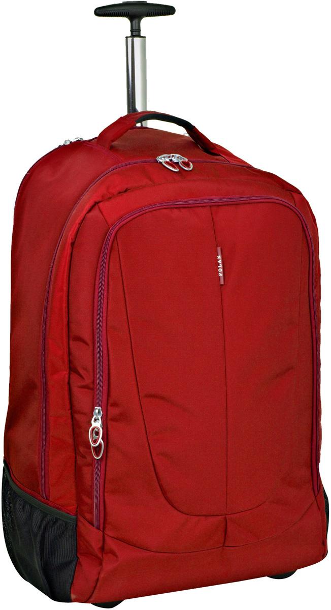 Чемодан-рюкзак Polar, на колесах, цвет: красный, 46 л, 38 х 55 х 22 см. Р8293(22)