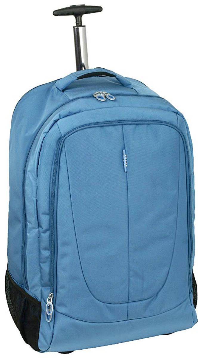 Чемодан-рюкзак Polar, на колесах, цвет: синий, 46 л. Р8293(22) чемодан samsonite чемодан 56 см pro dlx 4