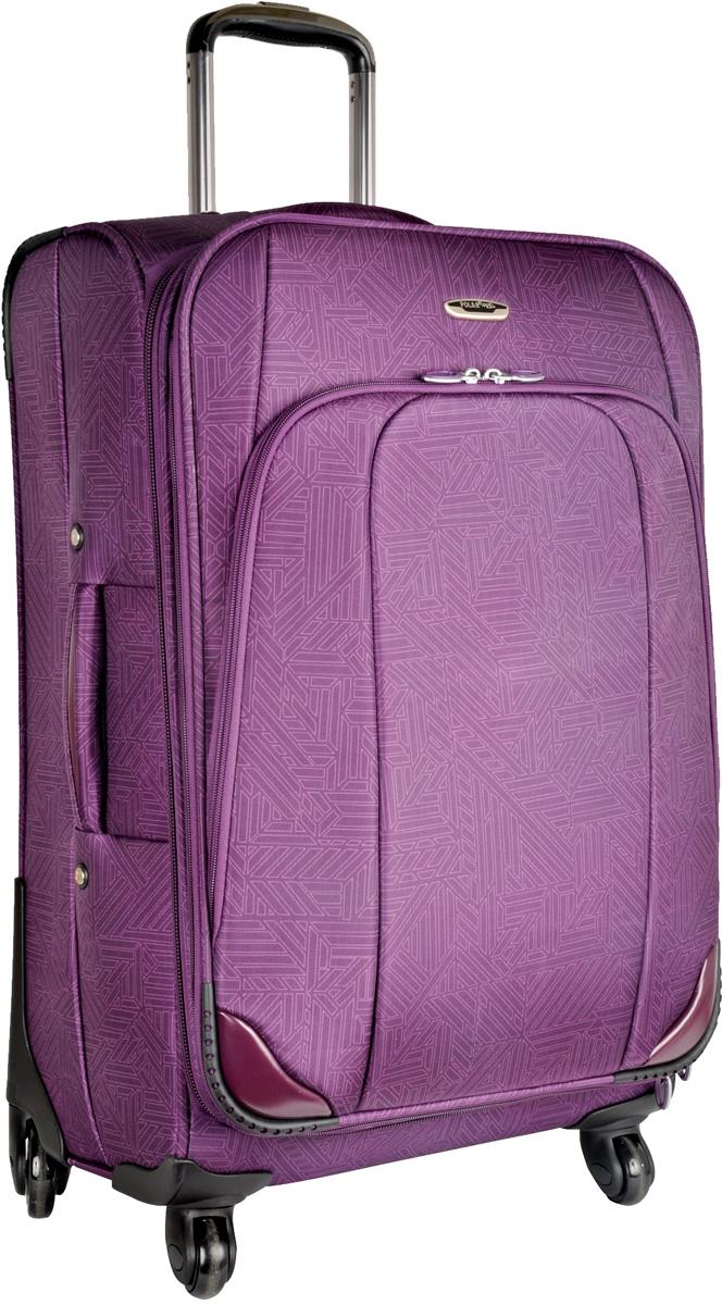 Чемодан Polar Спиннер, на колесах, цвет: фиолетовый, 125 л, 48 х 72 х 36 см. Р8383(28)
