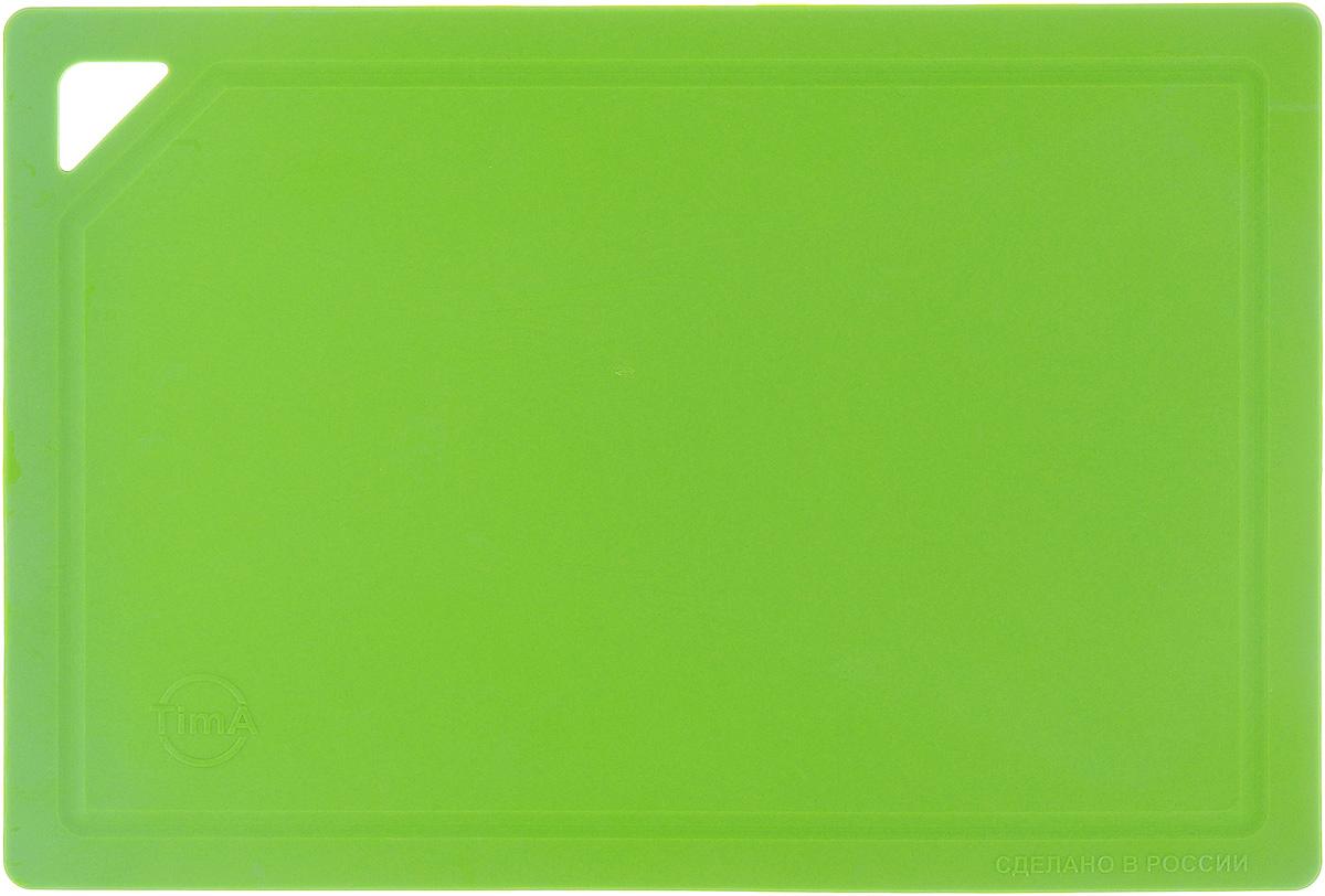 Доска разделочная TimA, гибкая, цвет: салатовый, 31 х 21 х 0,3 смДРГ-3022_салатовыйГибкая разделочная доска TimA изготовлена из полиуретанаи обладает уникальными свойствами. Гигиенична. Не вступает в химическую реакцию с продуктами,не выделяет вредных веществ, предотвращает размножениеболезнетворных микроорганизмов на поверхности доски. Безопасна. Доска плотно прилегает к любой поверхностистола или столешницы, не скользит. По краю проходитнебольшой желоб, который предохраняет от растеканияжидкости. Комфортна. Удобно высыпать нарезанные продукты даже внебольшую посуду, не уронив ни единого кусочка. Подходитдля керамических ножей. Долговечна. Благодаря исключительным свойствамполиуретана, срок службы такой доски значительно выше, чемдосок из дерева и пластика. Доски выпускаются в разных цветах, что позволяетиспользовать их для определенного вида продуктов. Зеленая- для овощей, красная - для мяса, синяя - для морепродуктов,желтая - для птицы, белая - для молочных продуктов. Простота в уходе. Благодаря низкой пористости материала,доска не впитывает влагу, легко очищается от жира и грязи.Можно мыть в посудомоечной машине.