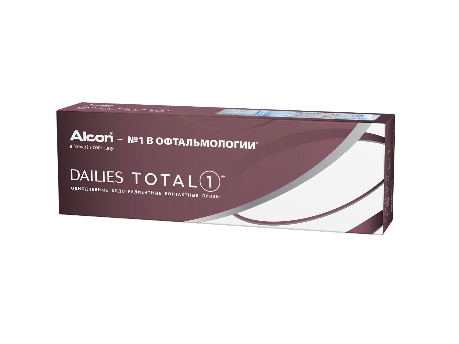 Alcon контактные линзы Dailies Total 1 30pk /+1.50 / 8.5 / 14.100-00000156Dailies Total 1 – линзы, которые не чувствуешь с утра и до позднего вечера. Эти однодневные контактные линзы выполнены из уникального водоградиентного материала, благодаря которому натуральная слеза – это все, что касается ваших глаз. Почти 100% влаги на поверхности линзы обеспечивают комфорт в течение самого долгого дня. Ключевые особенности и преимущества Dailies Total 1: -Линзы, которые не чувствуешь с утра и до позднего вечера. Влагосодержание на поверхности линзы Dailies Total 1 достигает 100% . Это делает линзу ультрагладкой, таким образом ваше веко не чувствует ее во время моргания. Уникальный водоградиентный материал обеспечивает вам более 16 часов комфортного ношения. -Здоровье, без покрасневших глаз. Чтобы ваши глаза не краснели и чувствовали себя здоровыми, им нужно дышать также как и вам. Контактные линзы Dailies Total 1 пропускают больше кислорода, чем все остальные однодневные контактные линзы.