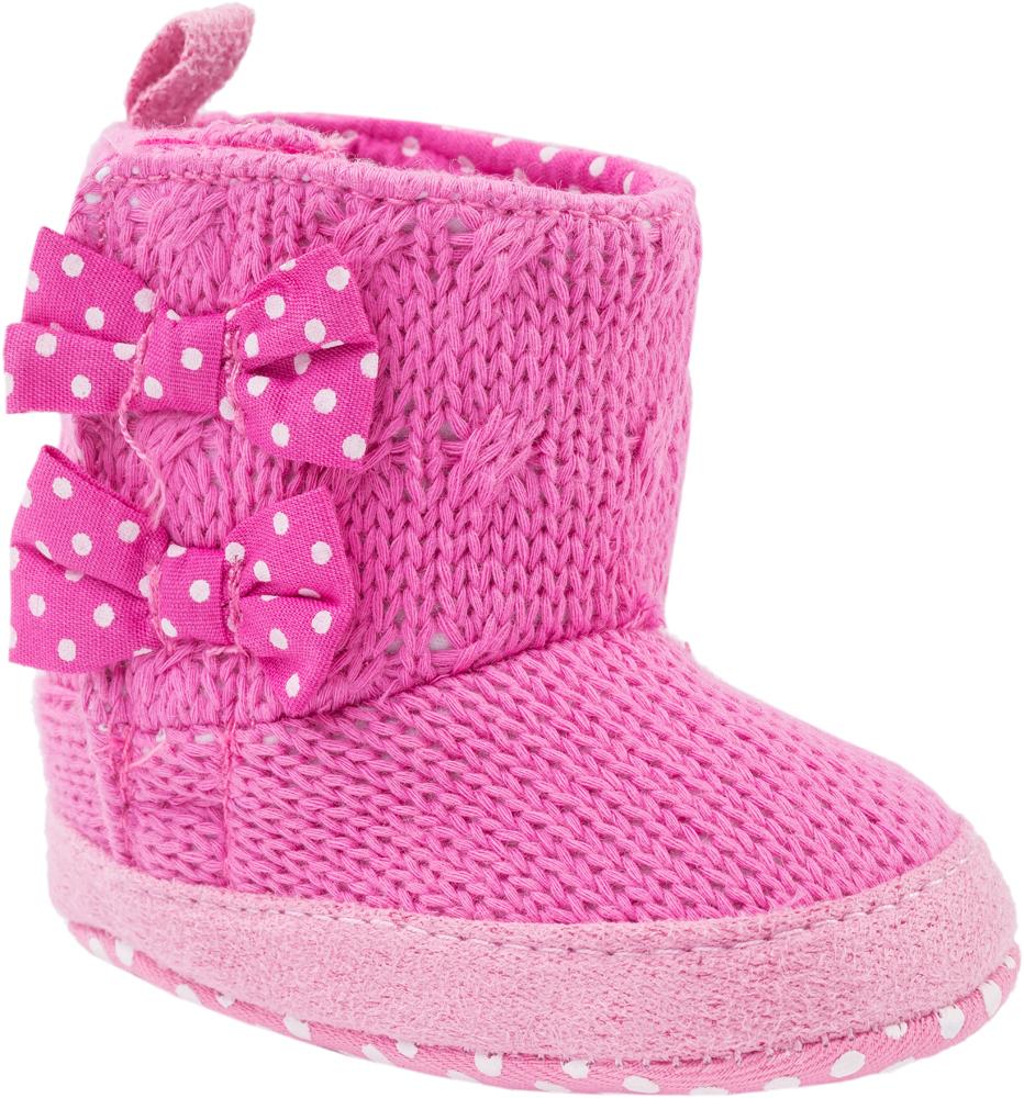Пинетки для девочек Котофей, цвет: розовый. 001039-12. Размер 17001039-12Легкие, эластичные пинетки изготовлены из натуральных качественных текстильных материалов Пинетки легко надеваются и снимаются. Движения стопы в них остаются свободными. Необходимо помнить, что пинетки – это обувь для детей, которые еще не начали ходить!