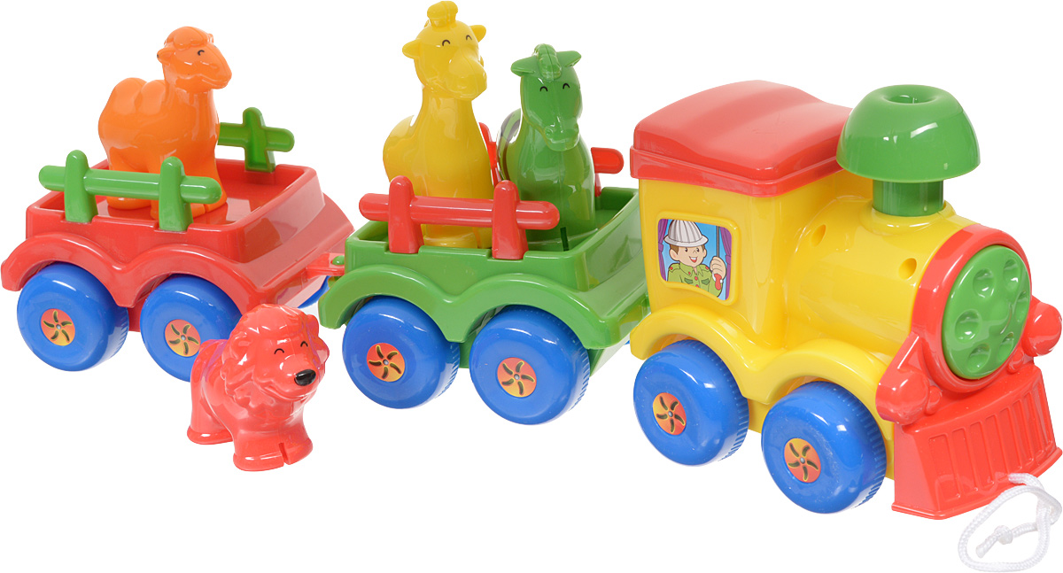 Simba Игрушка-каталка Паровозик с животными simba паровоз инерционный цвет желтый