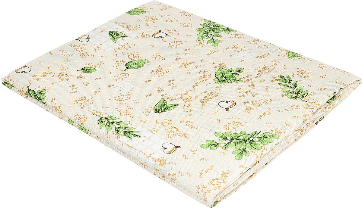 Скатерть Bonita Травы, цвет: бежевый, зеленый, коричневый, 125 х 145 см
