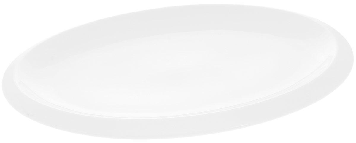 Блюдо Wilmax, овальное, 41 х 28 смWL-992642 / AБлюдо Wilmax овальной формы изготовлено из высококачественного фарфора с глазурованным покрытием. Материал легкий, тонкий, свет без труда проникает сквозь изделие. Посуда имеет роскошную белизну, гладкость и блеск достигаются за счет особой рецептуры глазури. Изделие обладает низкой водопоглощаемостью, высокой термостойкостью и ударопрочностью, а также экологичностью. Посуда долговечна и рассчитана на постоянное интенсивное использование. Гладкая непористая поверхность исключает проникновение бактерий, изделие не будет впитывать посторонние запахи и сохранит первоначальный цвет. Блюдо прекрасно подойдет для подачи различных закусок, нарезок, сладостей, фруктов. Такое блюдо украсит ваш праздничный или обеденный стол, а оригинальный дизайн придется по вкусу и ценителям классики, и тем, кто предпочитает утонченность и изысканность.Можно мыть в посудомоечной машине и использовать в микроволновой печи.