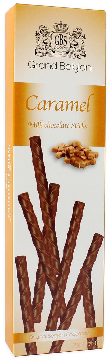 GBS Палочки из молочного шоколада с ароматом карамели, 75 г7.14.11Классическое сочетание - молочный шоколад от лучших шоколатье Бельгии и искристая насыщенная карамель. Она подарит изумительный вкус прелестным десертным палочкам, которые безумно хочется попробовать!Уважаемые клиенты! Обращаем ваше внимание, что полный перечень состава продукта представлен на дополнительном изображении.