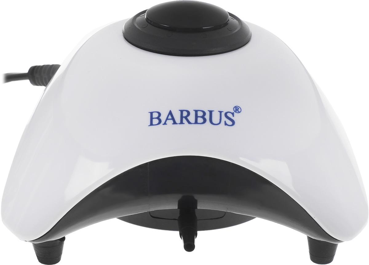 Компрессор аквариумный Barbus, с плавным регулятором мощности, 5 Вт компрессор воздушный barbus sb 248a с регулятором 1 канал 3 5 л мин