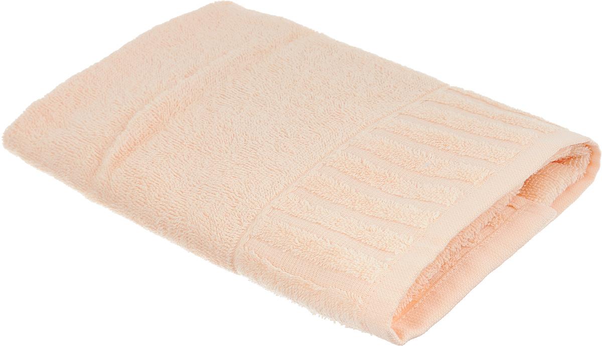 Полотенце Bonita Персик, цвет: персиковый, 40 х 70 см1011116013Полотенце Bonita Персик изготовлено из натурального хлопка и оформлено бордюром с полосками. Полотенце идеально впитывает влагу и сохраняет свою необычайную мягкость даже после многих стирок. Создать поистине особую атмосферу вы сможете с помощью такого полотенца. Оно изготавливается из натуральных материалов и обладает свежими и приятными оттенками. С ним ваш дом наполнится красотой и только прекрасными эмоциями.