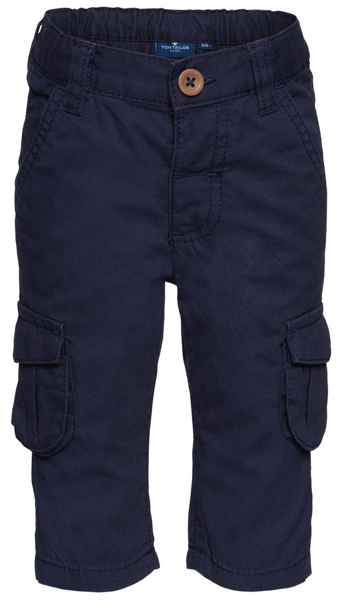 Брюки детские Tom Tailor, цвет: синий. 6404198.00.22_6811. Размер 866404198.00.22_6811Детские брюки выполнены из высококачественного материала. Модель застегивается в поясе на пуговицу и ширинку на застежке-молнии. Брюки дополнены шлевками, двумя втачными карманами и четырьмя накладными карманами.