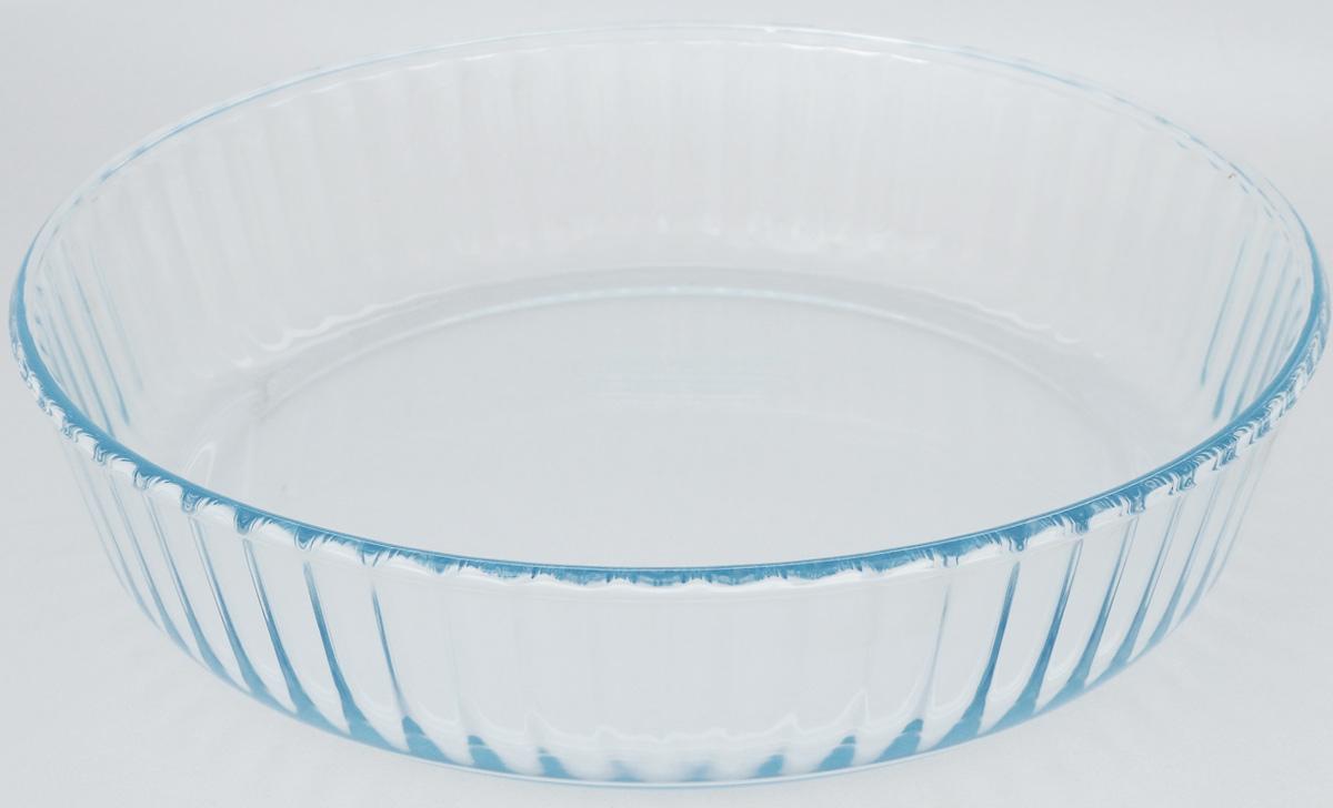 Форма для выпечки Pyrex Bake & Enjoy, круглая, диаметр 26 см818B000/6146Форма для выпечки Pyrex Bake & Enjoy изготовлена из закаленного боросиликатного стекла, что отвечает строгим европейским нормам безопасности EN 1183. Такое стекло обладает повышенной ударопрочностью, жаростойкостью (от -40°С до +300°С) и выдерживает резкий перепад температур в 220°С. Форма также устойчива к образованию пятен и царапин, не впитывает посторонние запахи. Изделие экологично, поэтому безопасно для использования. Форма круглая, удобна для приготовления пирогов, кексов и другой выпечки. Внутренние стенки рельефные, что придает выпечке эстетичный внешний вид. Подходит для духовки, микроволновой печи, можно мыть в посудомоечной машине, ставить в холодильник и морозильную камеру. Диаметр формы: 26 см. Высота стенки: 5,8 см.