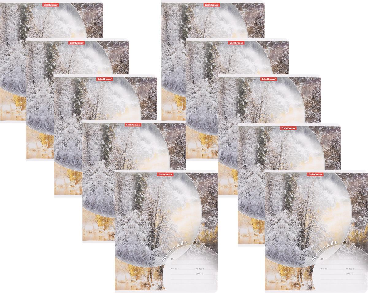 Erich Krause Набор тетрадей Магия природы Зима 24 листа в линейку 10 шт40046_зимаНабор тетрадей Erich Krause Магия природы Зима предназначен для младших школьников. Обложка каждой тетради выполнена из плотного картона с закругленными углами. На обратной стороне обложки имеется справочная информация (русский и английский прописные алфавиты).Внутренний блок тетрадей состоит из 24 листов белой бумаги в линейку.В наборе 10 тетрадей.