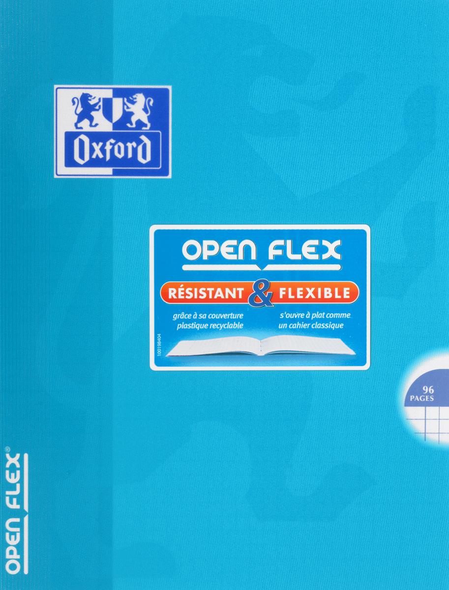 Oxford Тетрадь Openflex 48 листов в клетку цвет голубой893028_голубойКрасивая и практичная тетрадь Oxford Openflex отлично подойдет для офиса и учебы. Тетрадь формата А5 состоит из 48 белых листов с полями и четкой яркой линовкой в клетку. Обложка тетради выполнена из плотного полупрозрачного полипропилена и оформлена символом Оксфордского университета. Металлические скрепки надежно удерживают листы. Также тетрадь имеет скругленные углы и страничку для заполнения данных владельца.