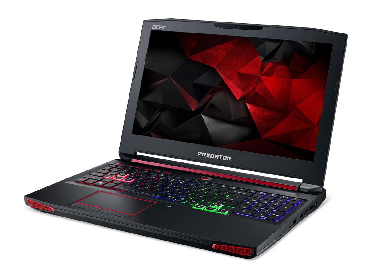 Acer Predator G9-592, Black (G9-592-5398)G9-592-5398Впечатляющая мощность и превосходный стиль - все это в одном ноутбуке. Острые и агрессивные черты напоминают космические крейсеры, а выхлопные отверстия сзади дополняют агрессивный дизайн ноутбуку. Acer Predator G9-592 оснащен высокотехнологичным аппаратным обеспечением и инновационной системой охлаждения. В аппаратную конфигурацию ноутбука входит процессор Intel Core i5 шестого поколения, оперативная память DDR4 и дискретная видеокарта NVIDIA GeForce GTX 970M. Мощные компоненты обеспечивают высокую скорость в современных играх и тяжелых приложениях, например при редактировании видео.Легко обжечься в пылу настоящей битвы. Сохраняйте хладнокровие благодаря усовершенствованной технологии охлаждения. Cooler Master поможет снизить температуру и повысить производительность. А решение Predator FrostCore пригодится вам во время жарких игровых баталий.Отсутствие задержек при подключении зачастую решает исход сетевых поединков. Управляйте подключением к Интернету с помощью технологии Killer DoubleShot Pro. Эта технология позволяет выбрать, какие приложения могут получить доступ к драгоценной пропускной способности. И самое главное - она позволяет использовать для доступа в Интернет проводные и беспроводные подключения одновременно.Predator DustDefender защитит основные компоненты вашего устройства от грязи и пыли. Переменное направление воздушного потока и ультратонкий вентилятор толщиной всего 0,1 мм AeroBlade, полностью выполненный из металла и отличающийся улучшенными аэродинамическими характеристиками, защитит устройство от скопления пыли.Благодаря программе PredatorSense в вашем распоряжении окажутся расширенные настройки для создания уникальной игровой атмосферы. PredatorSense предоставляет доступ к таким игровым функциям, как профили макросов клавиатуры, позволяющие переключаться между игровой конфигурацией и регулировать подсветку.Клавиатура Predator ProZone RGB имеет настраиваемые области подсветки, для которых мож