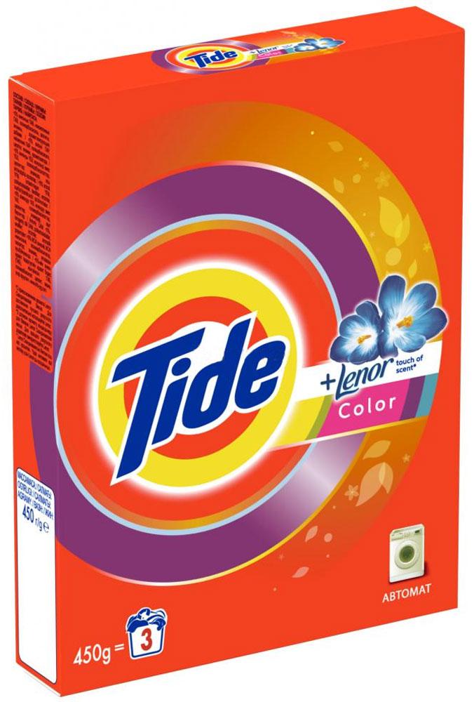 Стиральный порошок Tide Lenor Touch of Scent. Color, автомат, 450 г порошокстиральныйcolor автомат3кг