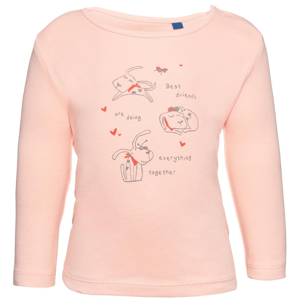 Лонгслив для девочки Tom Tailor, цвет: розовый. 1034533.00.21_5515. Размер 801034533.00.21_5515Лонгслив выполнен из высококачественного материала. Модель с круглым вырезом горловины, длинными рукавами оформлена принтовым рисунком.