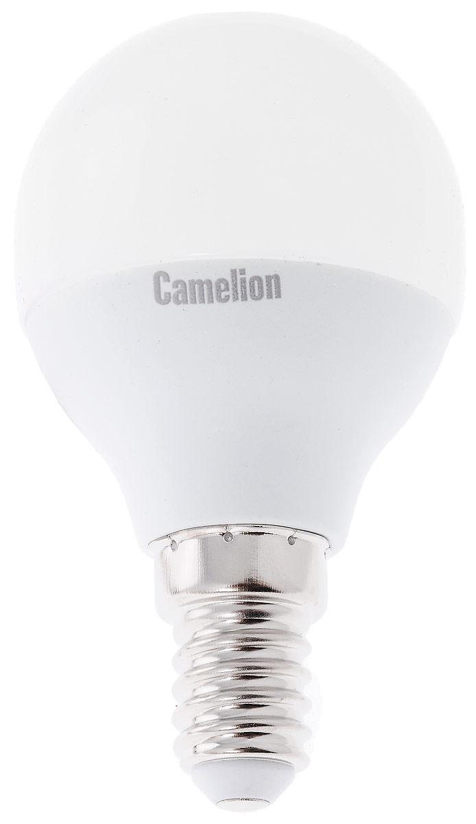 Лампа светодиодная Camelion, LED7-G45/830/E1412069Светодиодная лампа Camelion - это инновационное решение, разработанное на основе новейших светодиодных технологий (LED) для эффективной замены любых видов галогенных или обыкновенных ламп накаливания во всех типах осветительных приборов. Она хорошо подойдет для освещения квартир, гостиниц и ресторанов. Лампа не содержит ртути и других вредных веществ, экологически безопасна и не требует утилизации, не выделяет при работе ультрафиолетовое и инфракрасное излучение. Напряжение: 220-240 В / 50 Гц. Индекс цветопередачи (Ra): 77+.Угол светового пучка: 220°. Использовать при температуре: от -30° до +40°.