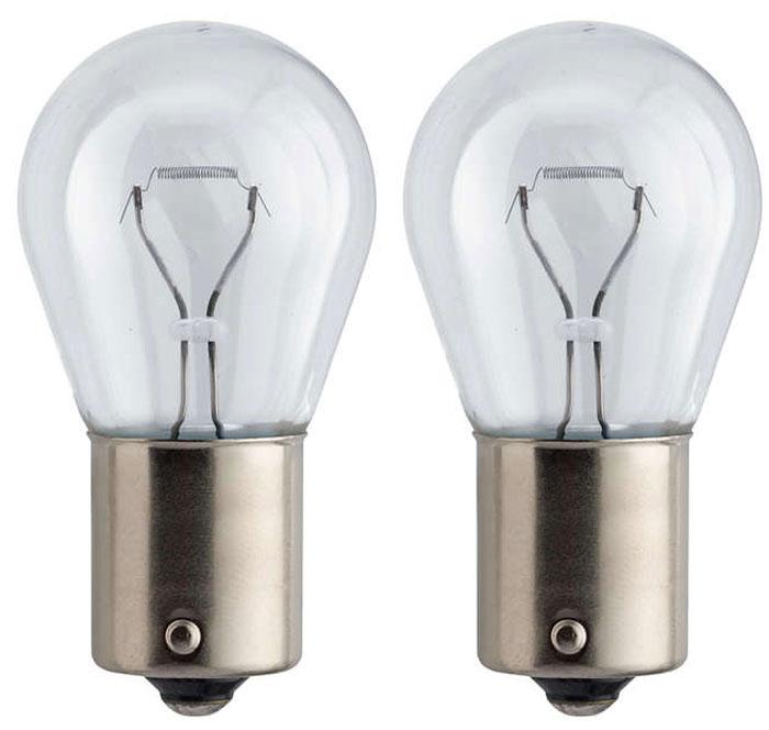 Лампа автомобильная галогенная сигнальная Philips Vision, цоколь BA15s, 12V, 21W, 2 шт12498B2 (бл.)Автомобильная лампа Philips Vision изготовлена из запатентованного кварцевого стекла с УФ-фильтром Philips Quartz Glass. Кварцевое стекло в отличие от обычного стекла выдерживает гораздо большее давление и больший перепад температур. При попадании влаги на работающую лампу, лампа не взрывается и продолжает работать. Лампа Philips Vision производит на 30% больше света по сравнению со стандартной лампой, благодаря чему стоп-сигналы или указатели поворота будут заметны с большего расстояния. Применение лампы:- передний указатель поворота; - задний указатель поворота; - фонарь подсветки государственного регистрационного знака; - задний противотуманный фонарь; - габаритный фонарь/стояночный фонарь; - стоп-сигнал; - дневные ходовые огни; - задний фонарь. Лампа Philips Vision отличается высокой эффективностью, соответствуя всем современным требованиям.
