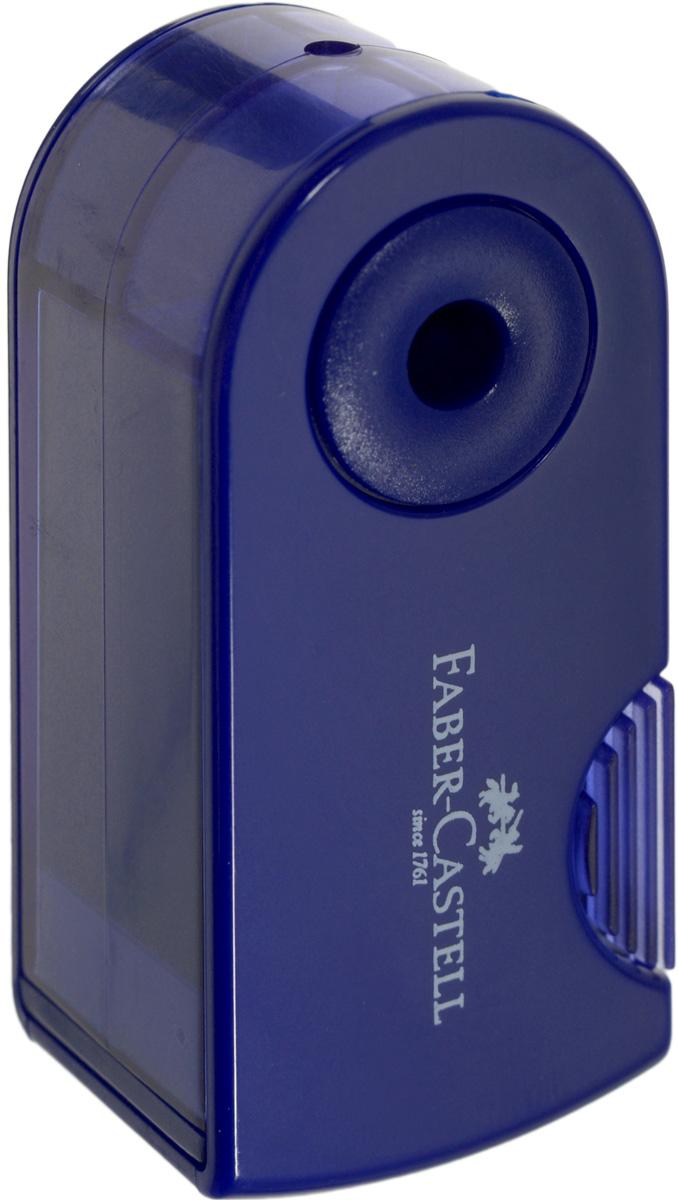 Faber-Castell Мини-точилка Sleeve цвет темно-синий182711Мини-точилка Faber-Castell Sleeve выполнена из прочного пластика.В точилке имеется одно отверстие для карандашей классического диаметра. Эргономичная форма контейнераобеспечивает стабильное положение кисти. Карандаш затачивается легко иаккуратно, а опилки после заточки остаются в специальном контейнереповышенной вместимости.