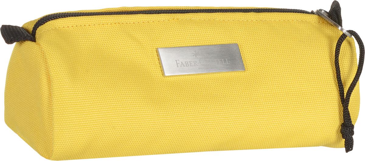 Faber-Castell Пенал цвет желтый191805_желтыйШкольный пенал Faber-Castell с водоотталкивающим покрытием Бейсик выполнен из прочного материала и оформлен металлической вставкой с названием бренда.Пенал содержит одно отделение для канцелярских принадлежностей и закрывается на застежку-молнию. Пенал послужит отличным помощником во время занятий и позволит сохранить порядок на рабочем столе.