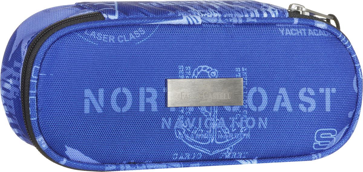 Faber-Castell Пенал цвет синий с надписями 191807 пеналы faber castell пенал простой увеличенный розовый