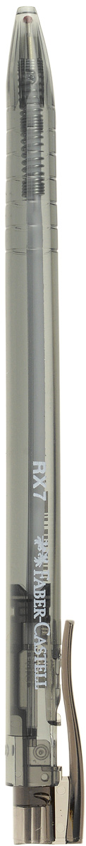 Faber-Castell Ручка шариковая RX-7 цвет черный545499Шариковая ручка Faber-Castell RX-7 эргономичной трехгранной формы станет незаменимым атрибутом учебы или работы. Прозрачный корпус ручки выполнен из пластика и соответствует цвету чернил. Высококачественные чернила позволяют добиться идеальной плавности письма. Ручка имеет качественный нажимной механизм и оснащена упругим клипом для удобной фиксации на бумаге или одежде.