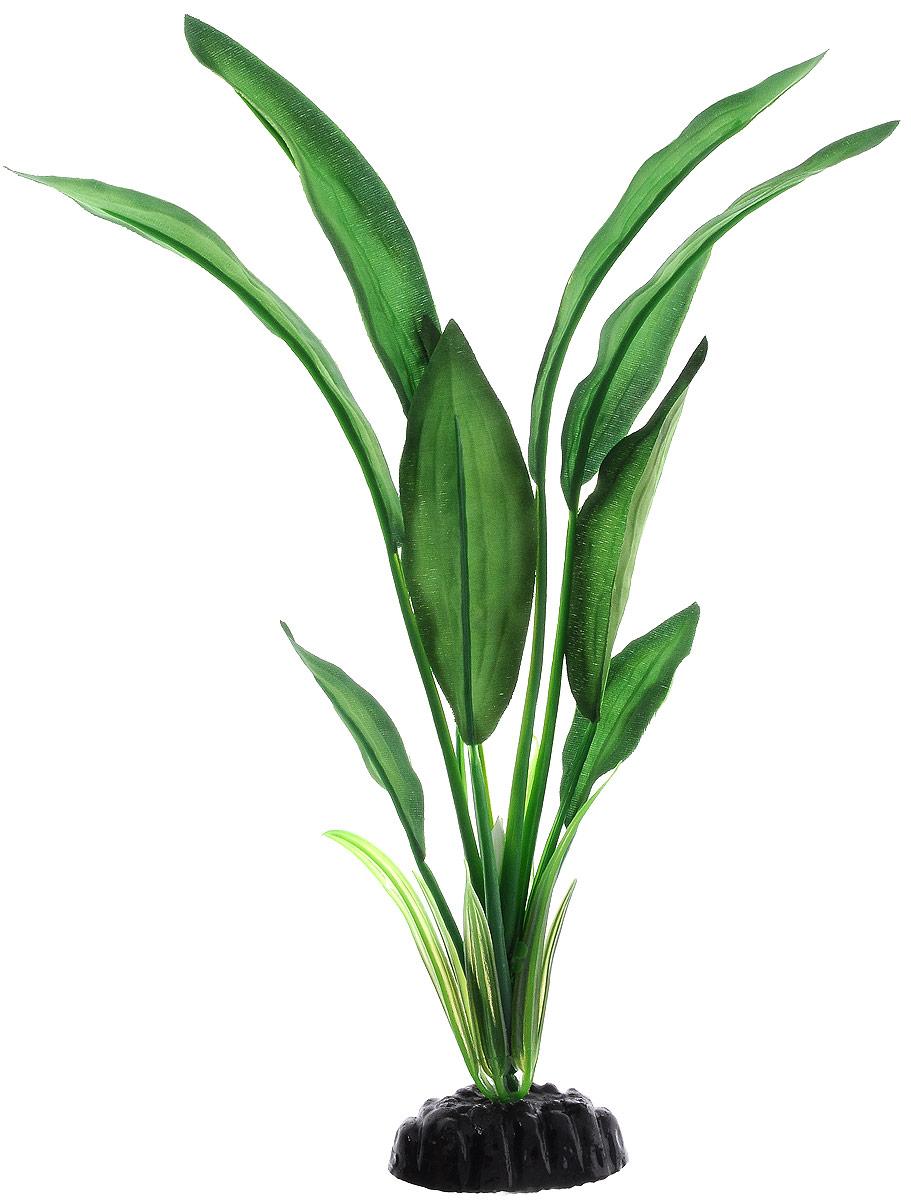 Растение для аквариума Barbus Эхинодорус Блехера, шелковое, высота 30 см. Plant 050/30Plant 050/30Растение для аквариума Barbus Эхинодорус Блехера, выполненное изкачественного шелка, станет оригинальным украшением вашего аквариума.Шелковое растение идеально подходит для дизайна всех видов аквариумов, какпресноводных, так и морских. В воде создается абсолютная имитация живогорастения. Изделие безопасно, не токсично, нейтрально к водномубалансу, устойчиво к истиранию краски.Растение Barbus поможет вам смоделировать потрясающий пейзаж на дневашего аквариума или террариума.Высота растения: 30 см.