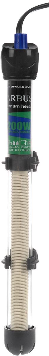 Обогреватель для аквариума Barbus HL-200W, стеклянный, с терморегулятором, 200 Вт обогреватель для аквариума barbus новое поколение с терморегулятором 50 вт длина шнура 150 см