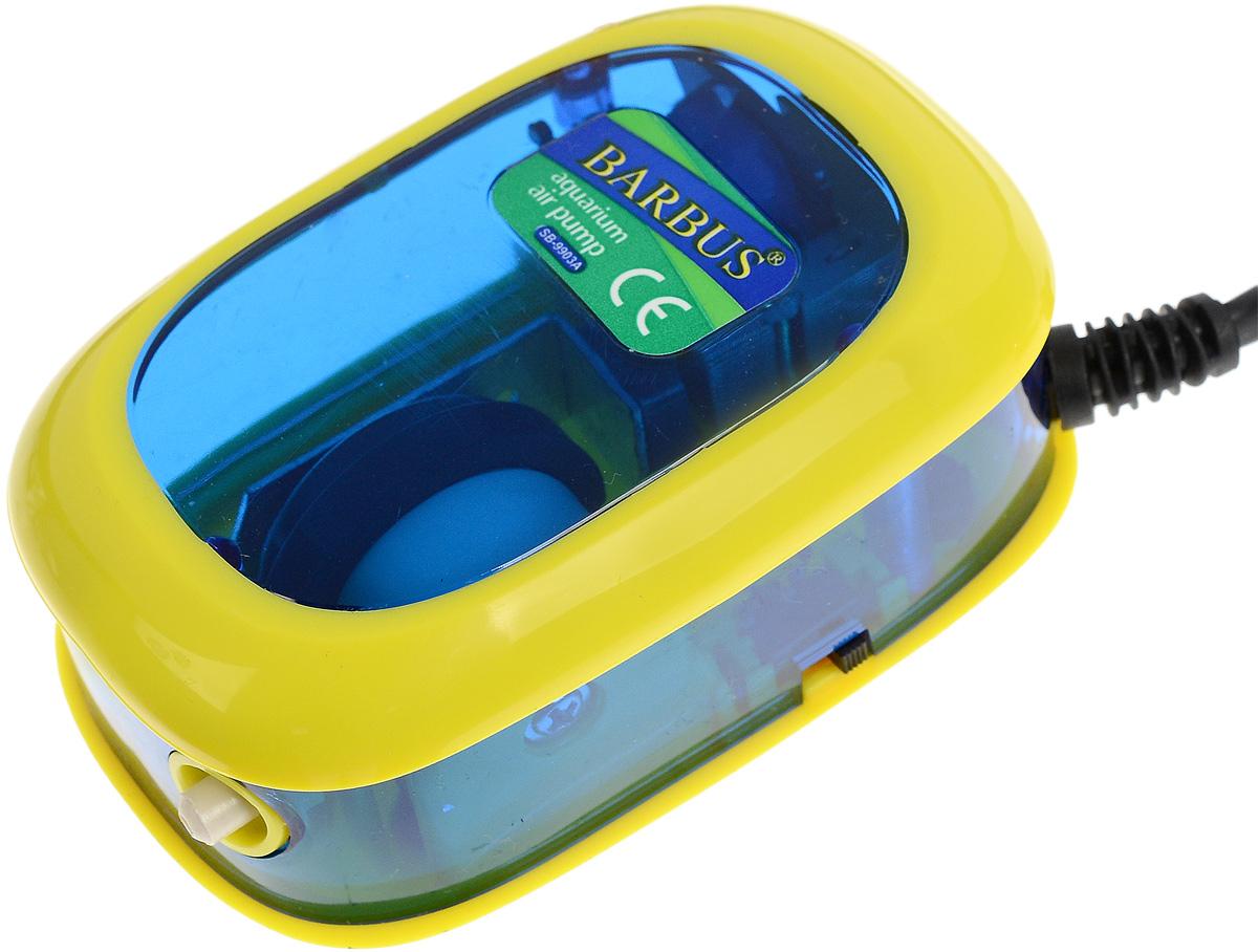 Компрессор воздушный аквариумный Barbus, 1 канал 4,5 л/мин, 3,5 Вт компрессор воздушный barbus sb 248a с регулятором 1 канал 3 5 л мин