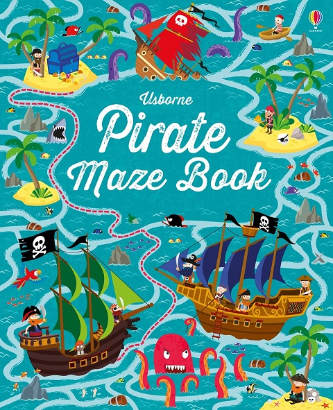 Pirate maze book map maze book