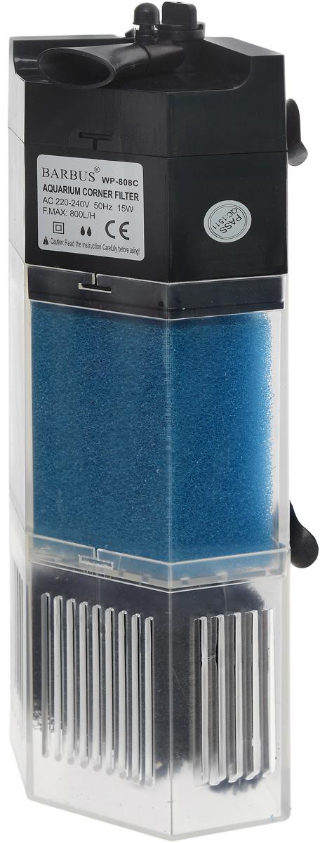Био-фильтр секционный Barbus, 800 л/ч, 15 Вт помпа для аквариума barbus led 088 водяная с индикаторами led 800 л ч 15 вт