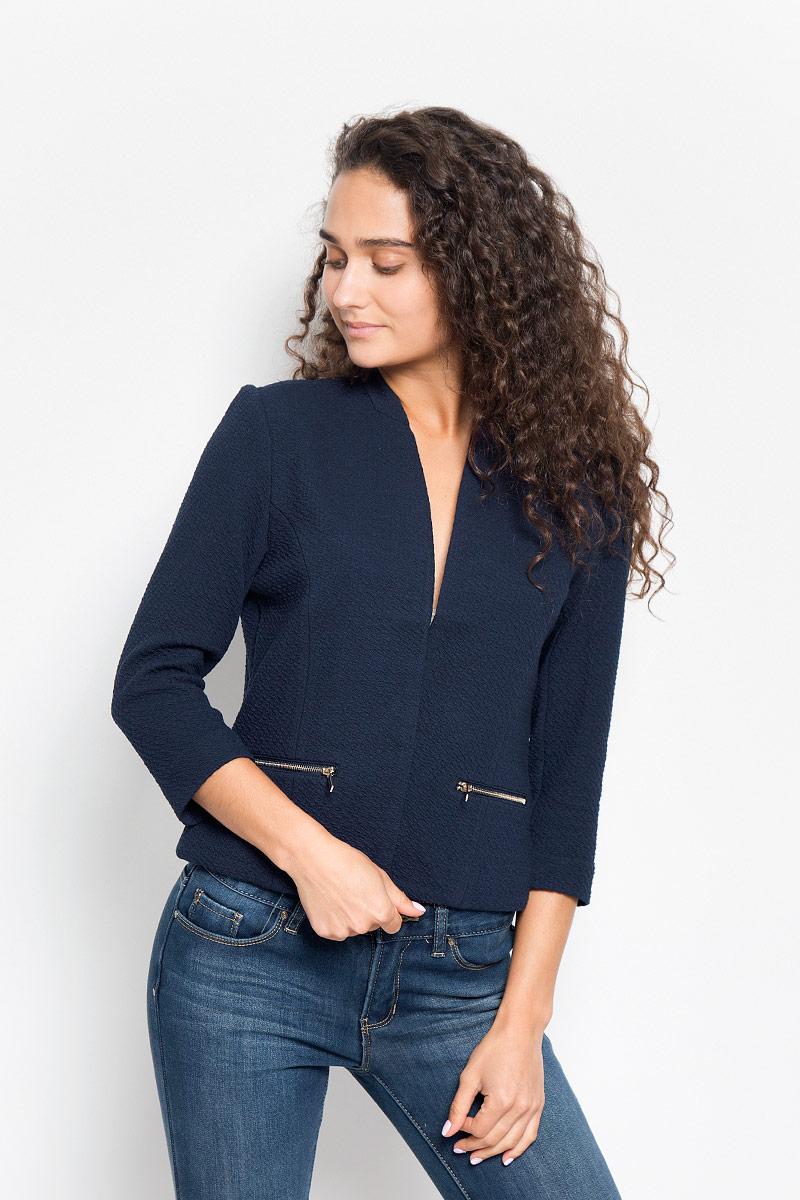 Жакет женский Sela, цвет: темно-синий. JTk-116/1004-6342. Размер S (44)