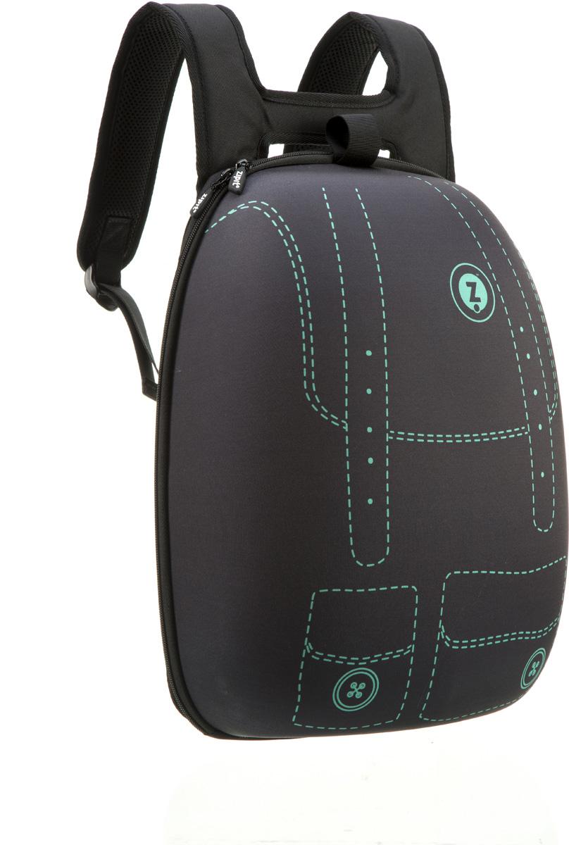 Zipit Рюкзак Shell Backpacks цвет черныйZSHL-BGPПрочный жесткий рюкзак в мягкой обшивке на молнии сохранит все в целости и сохранности. Мягкая спинка, регулируемые ремни - обеспечат удобство и комфорт. Регулируемые лямки обеспечат плотную посадку. В рюкзаке у вас все будет в порядке - внутри несколько секций, так что есть место для всего. Размер рюкзака: 30 х 42 х 15 см.