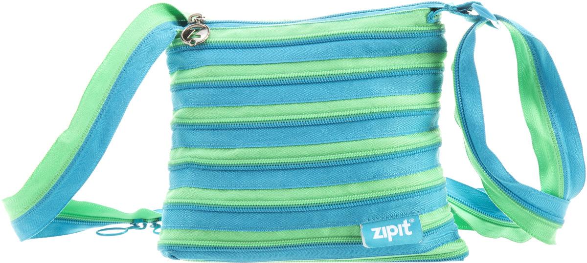 Zipit Сумка Medium Shoulder Bag цвет голубой салатовый