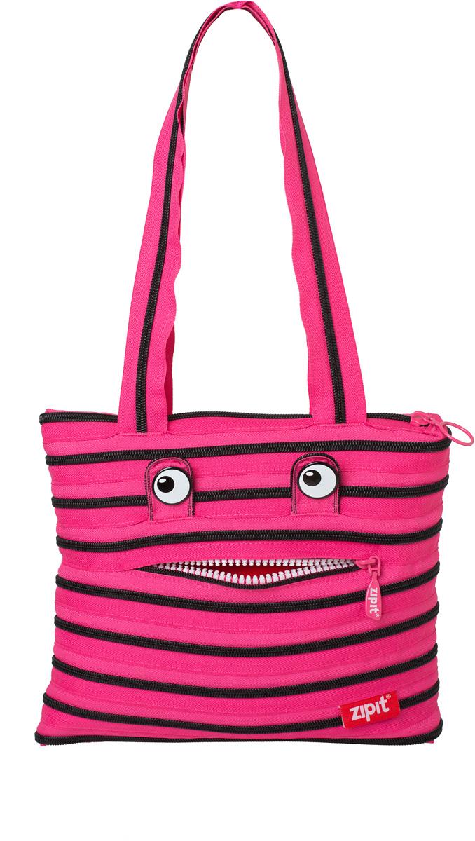 Zipit Сумка Monster Tote Beach Bag цвет розовый черный сумки для детей zipit сумка monster shoulder bag