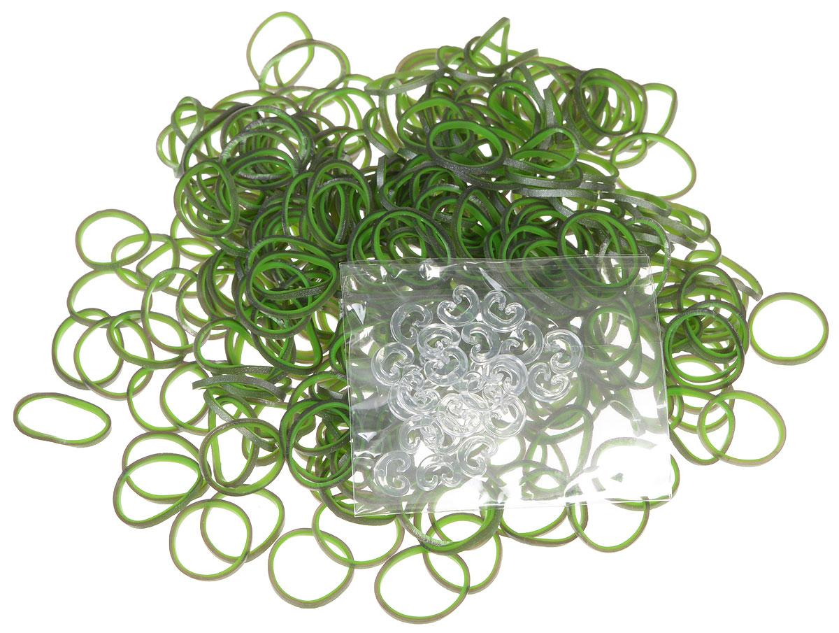 Rainbow Loom Набор резиночек цвет зеленый серый 600 шт