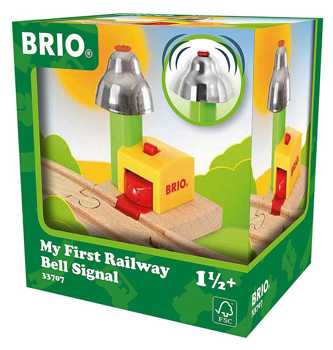 Brio Мой первый сигнальный колокольчик железные дороги brio brio 3 деревянные машинки с магнитами 33759