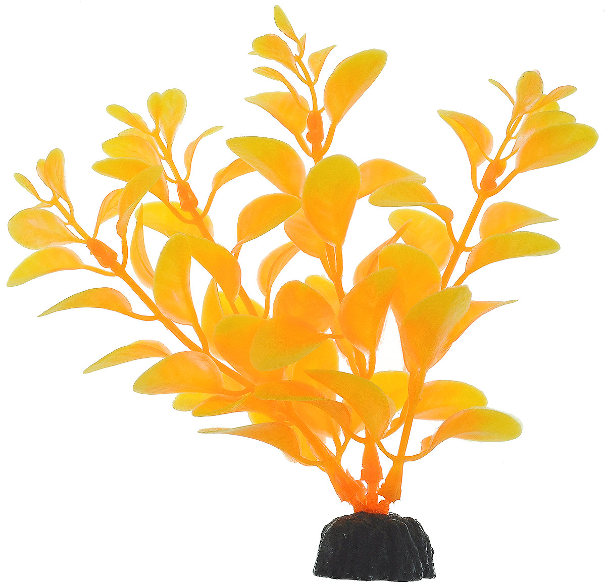 Растение для аквариума Barbus Людвигия, пластиковое, цвет: желто-оранжевый, высота 10 см растение для аквариума barbus людвигия ползучая красная пластиковое высота 30 см