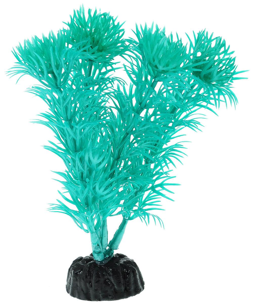 """Растение для аквариума Barbus """"Кабомба"""", пластиковое, цвет: бирюзовый, высота 10 см"""