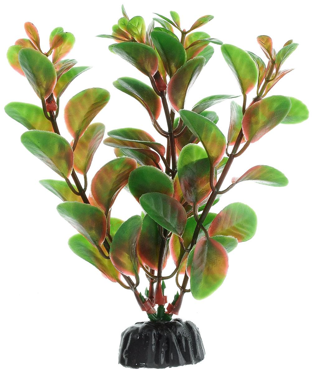 Растение для аквариума Barbus Людвигия красная, пластиковое, высота 10 см