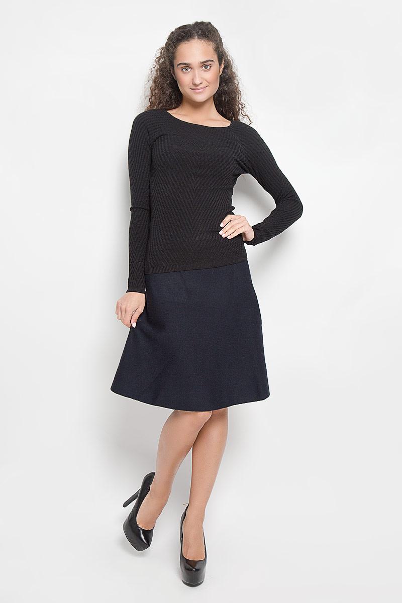 все цены на  Джемпер женский Sela, цвет: черный. JR-114/1105-6343. Размер XS (42)  онлайн