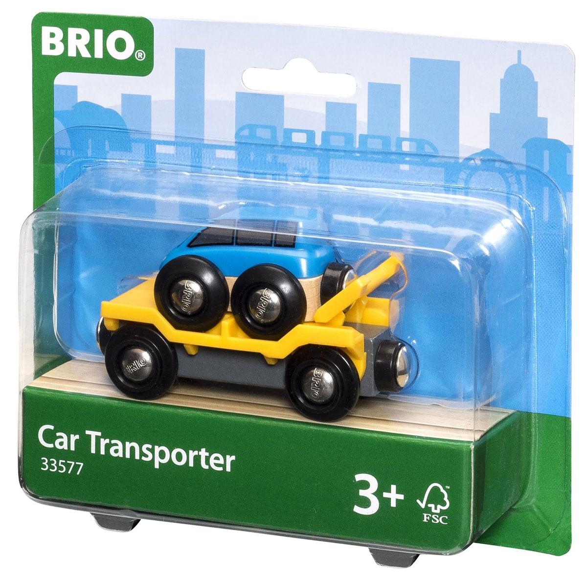 Brio Прицеп-эвакуатор с машинкой - Железные дороги
