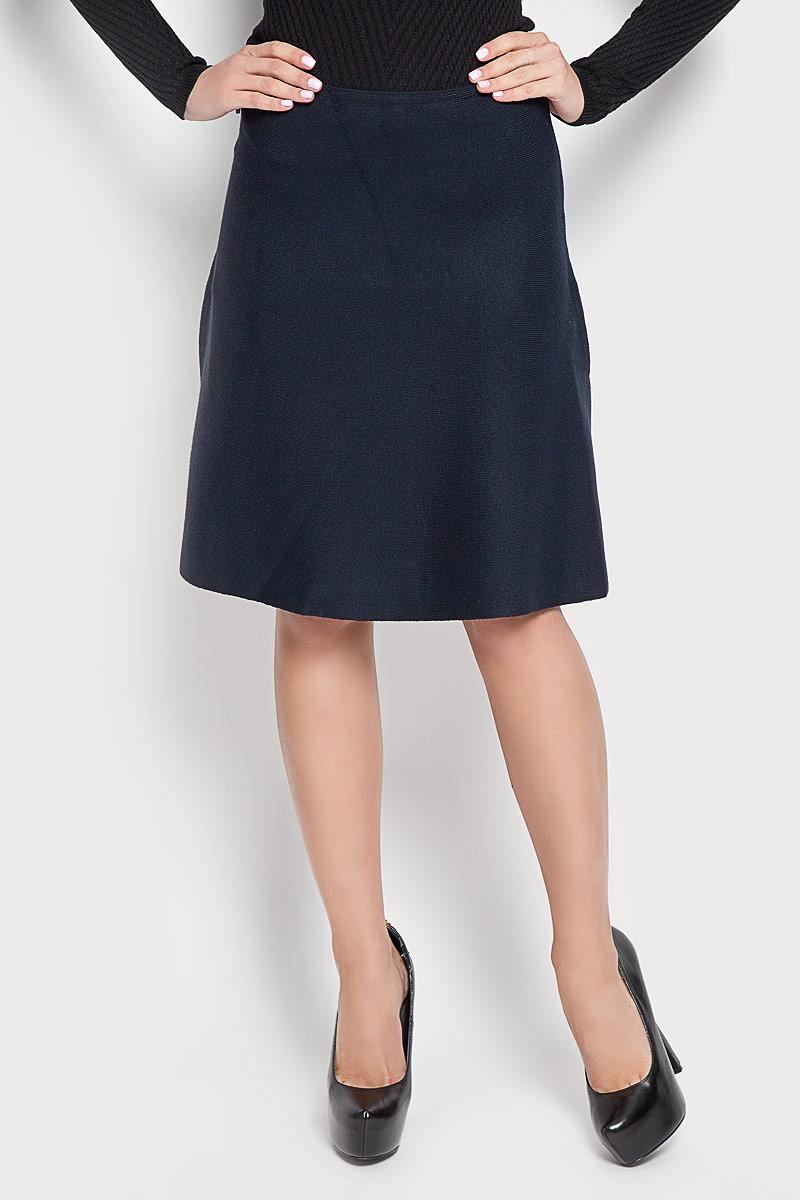 Юбка Sela, цвет: темно-синий. SKsw-118/857-6373. Размер L (48)