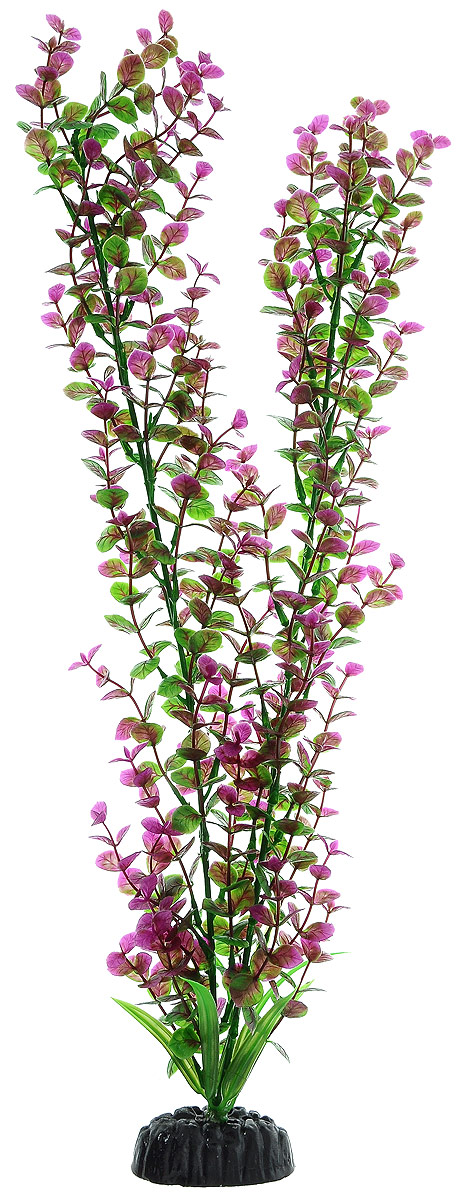 """Растение для аквариума Barbus """"Бакопа"""", пластиковое, цвет: зеленый, фиолетовый, высота 50 см"""