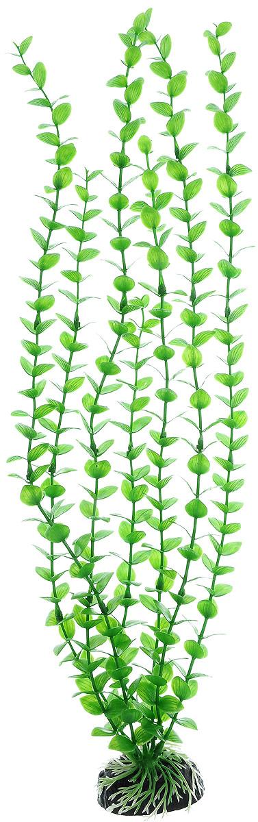 Растение для аквариума Barbus Бакопа зеленая, пластиковое, высота 50 см обогреватель для аквариума barbus новое поколение с терморегулятором 50 вт длина шнура 150 см
