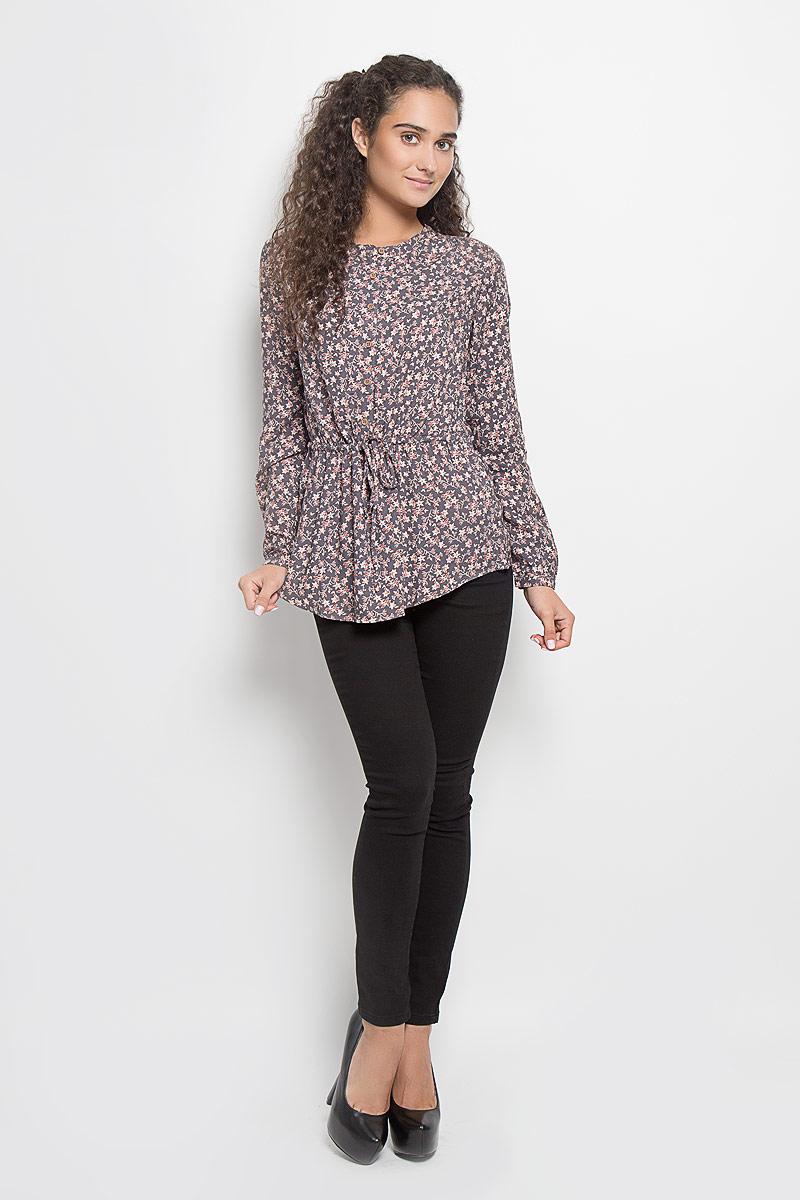 Блузка женская Sela, цвет: тауп, светло-оранжевый. TKw-112/1075-6393. Размер XL (50)TKw-112/1075-6393Стильная женская блуза Sela, выполненная из 100% вискозы, подчеркнет ваш уникальный стиль и поможет создать оригинальный женственный образ.Блузка с длинными рукавами и круглым вырезом горловины застегивается на пуговицы спереди, манжеты рукавов также застегиваются на пуговицы. Модель дополнена эластичной резинкой и шнурком-кулиской на талии.Блузка оформлена оригинальным цветочными принтом. Такая блузка идеально подойдет для жарких летних дней. Эта блузка будет дарить вам комфорт в течение всего дня и послужит замечательным дополнением к вашему гардеробу.